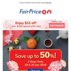[Fairprice] Shop & Save Up to 50%!