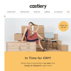 [Castlery] Quick, CNY Delivery ends 23 Jan!
