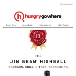[HungryGoWhere] Buy 1 Get 1 Free from Jim Beam Highball - Complement your meal with a refreshing twist