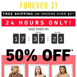 [FOREVER 21] GIRL, YOU ALREADY KNOW.