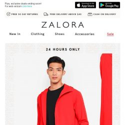 [Zalora] 🍊 24 HOURS ONLY: 20% Off The Entire Site!