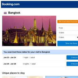 [Booking.com] Deals in Bangkok from S$ 13