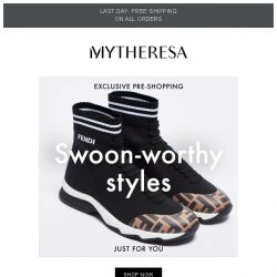 [mytheresa] Exclusive pre-shopping: Valentino, Fendi and Saint Laurent + last day free shipping