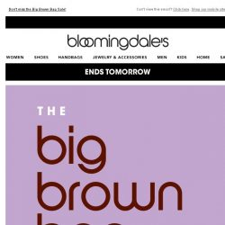 [Bloomingdales] Ends tomorrow: Take an extra 20% off