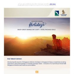 [Singapore Airlines] Introducing Singapore Airlines Holidays