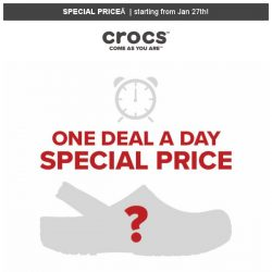 [Crocs Singapore] 📣Your Favorite Deal is Back👍 Special Offer starting this Sunday‼