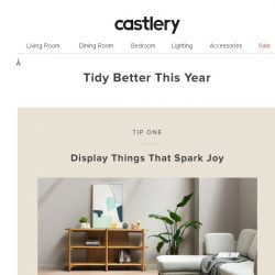 [Castlery] Does this Spark Joy? Tidy Better with Discounts!