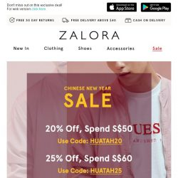 [Zalora] You're about to lose 40% OFF 😲