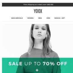 [Yoox] EXTRA 20% OFF + SALE up to 70% OFF: What are you waiting for?