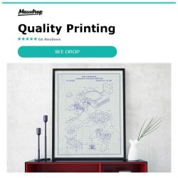 [Massdrop] Inked and Screened Awesome Mix Patent Prints: Hand-Printed Quality Canvas for $12.99
