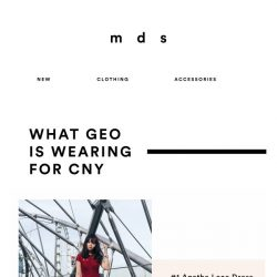[MDS] What Geo is wearing for CNY