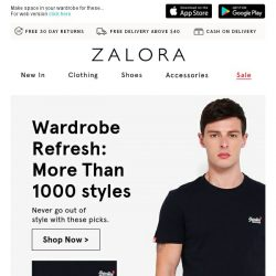[Zalora] Your future favourites have arrived!