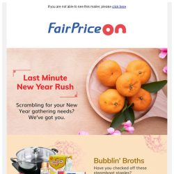 [Fairprice] Fuss-free, last minute shopping! 😎