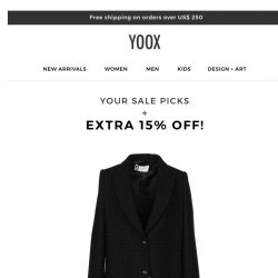 [Yoox] Add an EXTRA 15% OFF your sale picks!