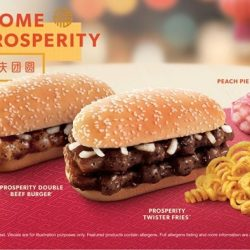 McDonald's: Prosperity Burgers & Twister Fries Are Back for A Limited Time Only with NEW Peach Pie!