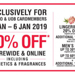 Metro: Enjoy 20% OFF Storewide & Online Including Cosmetics & Fragrances Exclusively for Metro & UOB Cardmembers!