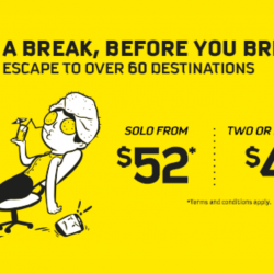 Scoot: Back-to-Work Sale Fares to Over 60 Destinations from Just SGD49!
