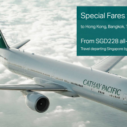 Cathay Pacific: Special Economy Class Fares with Citi Cards from SGD228 All-In!