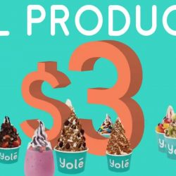 Yolé: 1 Year Anniversary Promo - Everything for $3 Each on 31st January 2019!
