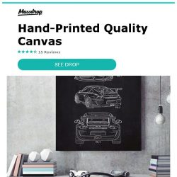 [Massdrop] Inked and Screened Automotive Prints: Hand-Printed Quality Canvas for $14.99