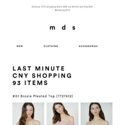 [MDS] Last Minute CNY Shopping | Some stocks also replenished!
