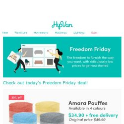 [HipVan] 💥 Amara Pouffes at $34.90 only! Free delivery included!