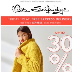 [Miss Selfridge] Up to 30% off coats, knits and shoes 🙌