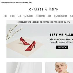 [Charles & Keith] Have A Glorious CNY With These Picks
