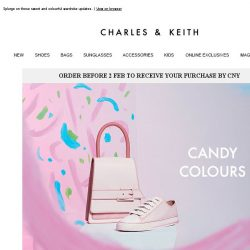 [Charles & Keith] Warning! Bright Candy Colours Ahead…