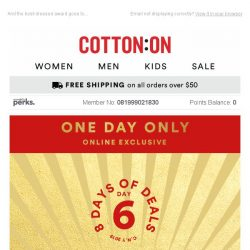 [Cotton On] Day 6: ⭐ Buy 1, Get 1 50% off DRESSES ⭐