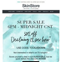 [SkinStore] Super Sale | Save Up To 30% Inside
