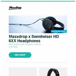 [Massdrop] Massdrop x Sennheiser HD 6XX Headphones, Massdrop x Zambumon GMK Jamón Custom Keycap Set, Massdrop x Sennheiser HD 58X Jubilee Headphones and more...