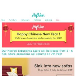 [HipVan] Happy Chinese New Year!🍍Shop New sofas just for you!