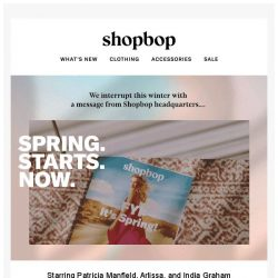 [Shopbop] Spring. Starts. Now.