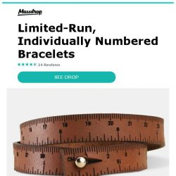 [Massdrop] Wrist Ruler Leather Bracelet: The Measuring Tool You Can Wear for $17.99