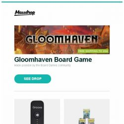 [Massdrop] Gloomhaven Board Game, Apogee Groove DAC/Amp, Dragon Shield Gloss & Matte Sleeves (6-Pack) and more...