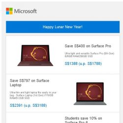 [Microsoft Store] Happy Lunar New Year! Choose your Surface