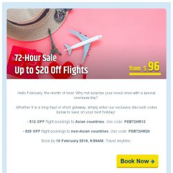[cheaptickets.sg] ⚡72-hr sale ⚡ Favourite sale up to $20 OFF instantly