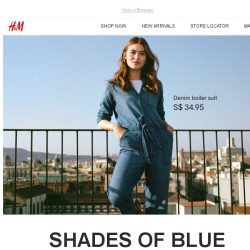 [H&M] Denim in new shades of blue