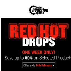 [Chain Reaction Cycles] Red Hot Drops. 60% Off. 🔥