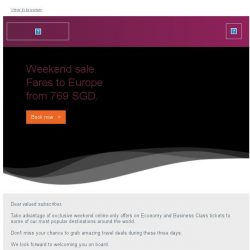 [Qatar] Weekend sale. Fares to Europe starting from 769 SGD.