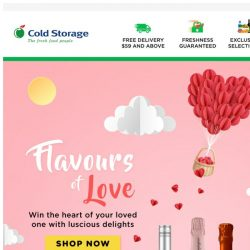 [Cold Storage] 💘 Keep Your Love Fresh this Valentine's Day! 💘