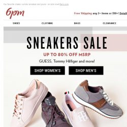 [6pm] Up to 80% off Sneakers + Jeans!
