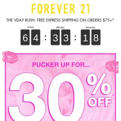 [FOREVER 21] 💘 30% off V-Day Dresses, Accessories, and more! 💘