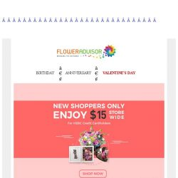 [Floweradvisor] Enjoy $15 off for HSBC card holders. Save more this Valentine's day!