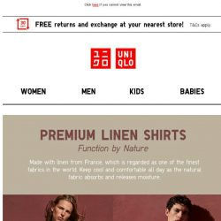 [UNIQLO Singapore] The PERFECT summer fabric is here!