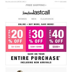 [Last Call] Get the looks @ up to 40% off