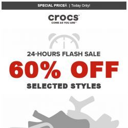 [Crocs Singapore] 24hr only⏰ 60% off on Crocs Bestsellers‼