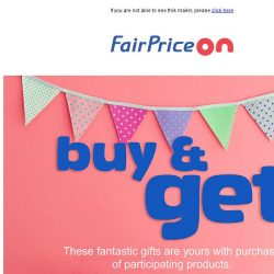 [Fairprice] FREE gifts when you purchase! 😍