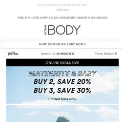 [Cotton On] LAST CHANCE! 30% off Maternity + Baby when you buy 3 items